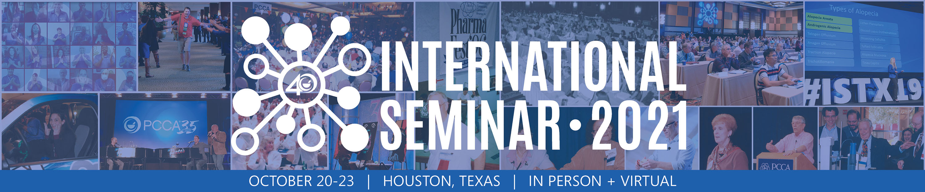 Collage of PCCA International Seminars for Pharmacy Compounding and Pharmacy Supply